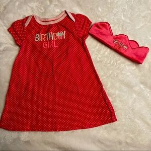 Birthday Girl Dress and Crown Size 12 months